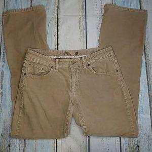 Prana Corduroy Tan Jeans